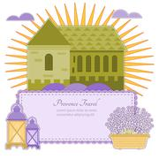 Vector invitation Provence. - stock illustration