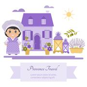 Vector set of symbols Provence - stock illustration