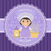 Invitation Welcome to Provence - stock illustration