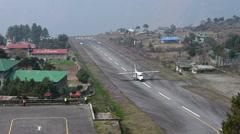Lukla airport Timelapse, Nepal Arkistovideo