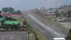 Lukla airport Timelapse, Nepal Stock Footage