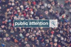 Web search bar glossary term - public attention Stock Photos