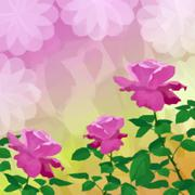 Holiday Background with Flower Rose - stock illustration