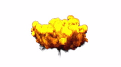 3D illustration of explosion fire cloud Stock Footage