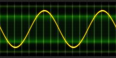 Texture wave oscilloscope - stock illustration