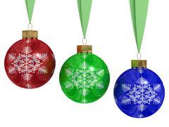 Christmas decoration on white background. 3D image. Stock Illustration