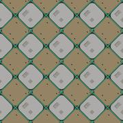 Seamless wallpaper pattern from processors - stock illustration