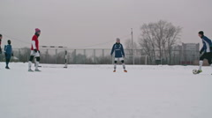 Soccer Player Scoring a Goal - stock footage