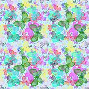 Many bright colorful butterflies. Stock Illustration