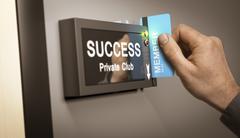 Achieving Success, accomplishment. Stock Illustration