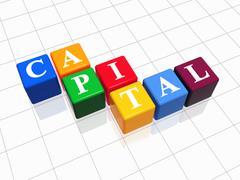 Capital in colour Stock Illustration