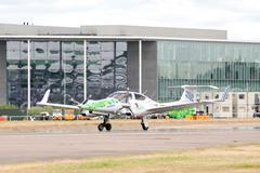 Green energy aircraft Stock Photos