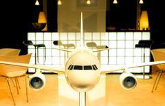 aircraft model - stock photo