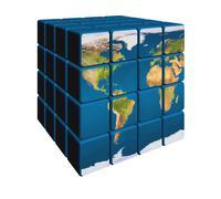 World in cubes - stock illustration