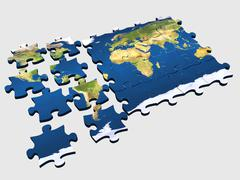 Puzzle World  Stock Illustration