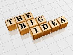 The big idea - golden Stock Illustration