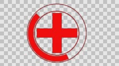 Cross Red and white. Stock Footage