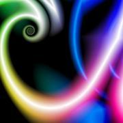 Abstract rainbow small spiral Stock Illustration