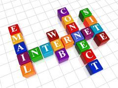 crossword - internet - stock illustration
