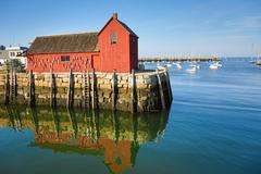 Lobster shack in Rockport - stock photo