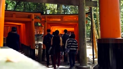 Timelapse at Fushimi Inari Stock Footage