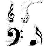Musical Designs Set Stock Illustration