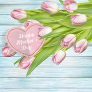 Mothers day card. EPS 10 - stock illustration