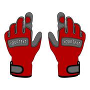 sports gloves in the vector - stock illustration