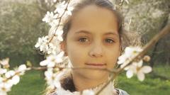Happy Children, Falling Petals Tree - stock footage