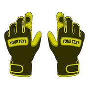 Sports gloves in the vector Stock Illustration