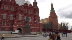 Monument to Marshal of the Soviet Union Georgy Konstantinovich Zhukov Stock Footage