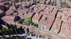 Pienza Aerial View Stock Footage