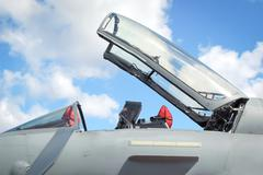 Ejector seat canopy Stock Photos
