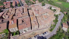 Pienza Panoramic Aerial View - stock footage