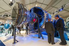 Rolls-Royce jet engine - stock photo