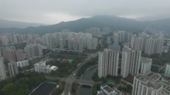 Aerial Tai Po in Hong Kong - stock footage