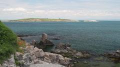 St. Ivan and St. Peter islands near Sozopol, Black sea Stock Footage