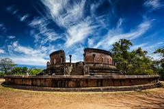 Ancient Vatadage Buddhist stupa, Sri Lanka - stock photo