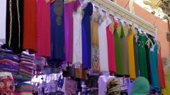 Moroccan muslim women dresses Stock Footage