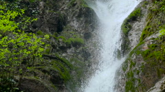 Waterfall in the Republic of Abkhazia North Caucasus close up Stock Footage