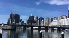 SYDNEY, AUSTRALIA - NOVEMBER 2015 : Darling Harbour on a sunny day, adjacent to Stock Footage