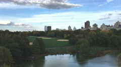Aerial panoramic view of Central Park in New York City Arkistovideo