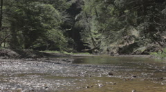 Slide from Left ot Right of Clear River Stock Footage