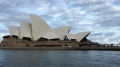 SYDNEY – NOVEMBER 2015: Sydney Opera House from moving ferry. Sydney attracts 10 - stock footage