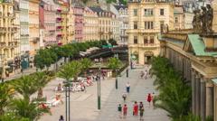Karlovy Vary Czech Republic Timelapse. Stock Footage