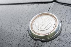 VW vehicle badge - stock photo