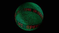 Hi speed spinning globe Stock Footage