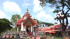 Worship a Buddhist shrine Stock Footage