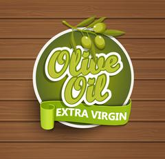 Olive oil extra virgin label. - stock illustration