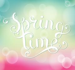 Spring time inscription. Stock Illustration